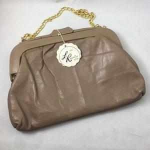 Vintage La Regale clutch with gold chain.